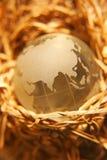 глобус 8 кристаллов Стоковое фото RF