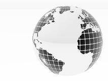 Глобус Bw классический Стоковые Фотографии RF