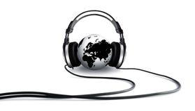 глобус ii слушая Стоковая Фотография
