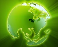 глобус pacific Азии иллюстрация штока