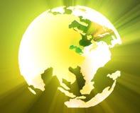 глобус pacific Азии иллюстрация вектора