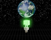 гловальная зеленая идея Стоковые Фотографии RF