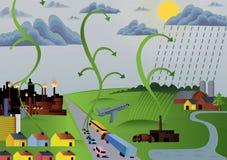 гловальное загрязнение иллюстрация вектора
