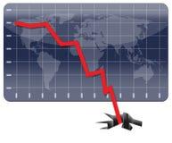 гловальное кризиса хозяйственное Стоковое Изображение RF
