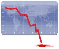 гловальное кризиса хозяйственное Стоковое Фото