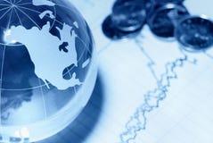 гловальное принципиальной схемы финансовохозяйственное Стоковые Изображения RF