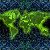 гловальный мир сети карты 02 Стоковые Фото