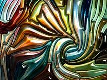 Глубина радужного стекла иллюстрация вектора