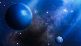 Глубокая голубая тайна космоса Стоковая Фотография