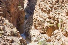 Глубокая заводь в долине ущелья Dades Стоковые Изображения