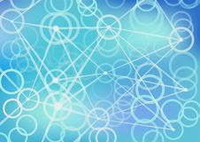 Глубокая предпосылка нервной системы схематическая для искусственного интеллекта Стоковое Фото