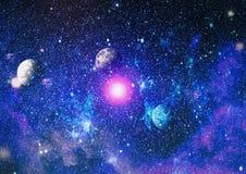 глубокая спираль космоса галактики Элементы этого изображения поставленные NASA иллюстрация вектора