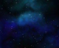 глубокие звезды космоса ночного неба Стоковая Фотография RF