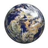 глубокий заход солнца космоса планеты земли Стоковое Изображение