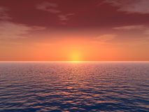 глубокий заход солнца Стоковая Фотография RF