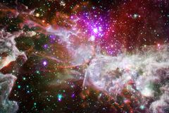 Глубокий космос красоты Фантазия научной фантастики в высоком разрешении идеальном для обоев Элементы этого изображения поставлен стоковые изображения rf