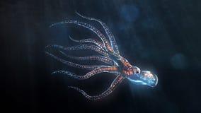 глубокое море восьминога Стоковые Изображения RF