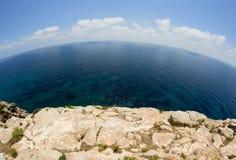 глубокое море утесов Стоковое Фото