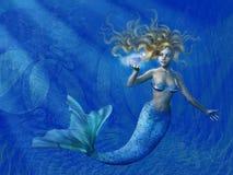 глубокое море mermaid Стоковые Изображения