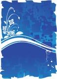 глубокое предпосылки голубое Стоковые Изображения