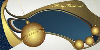 Глубокое приветствие рождества с глобусами Стоковое Изображение