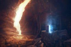 Глубоко в пещере стоковые изображения rf