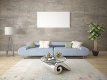 Глумитесь вверх по стильной живущей комнате с совершенной софой Стоковые Фото