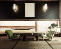Глумитесь вверх, японская пустая циновка tatami комнаты конструируя самое красивое r иллюстрация вектора