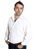 глухой мыжской портрет стоковая фотография rf