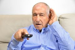 Глухота человека стоковые фотографии rf