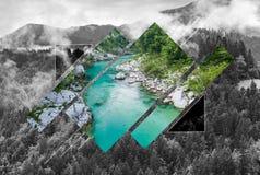 Глушь в горах, поли ландшафт scape стоковые фотографии rf