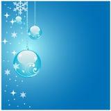 Глянцеватая голубая предпосылка рождества Стоковые Фото