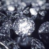 Глянцеватая предпосылка диамантов Стоковые Фотографии RF