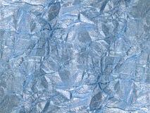 Глянцеватая серебряная голубая предпосылка тканья Стоковое Изображение