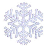 глянцеватая снежинка Стоковое фото RF