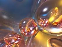 глянцеватое абстрактного пузыря 3d цветастое лоснистое Стоковые Изображения