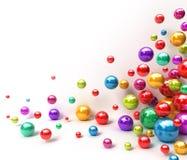 глянцеватое абстрактных шариков предпосылки цветастое Стоковые Фотографии RF