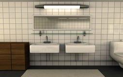 глянцеватое ванной комнаты чистое Стоковые Изображения RF