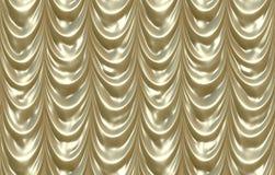 глянцеватое золота занавесов роскошное Стоковое Изображение