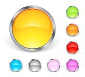 глянцеватое икон круглое Стоковые Изображения RF