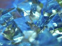 глянцеватое предпосылки голубое Стоковые Фотографии RF