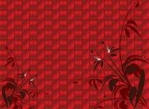 глянцеватое предпосылки флористическое красное Стоковые Фото
