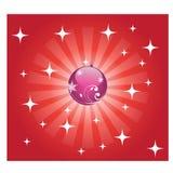 глянцеватое рождества предпосылки красное Стоковые Изображения RF