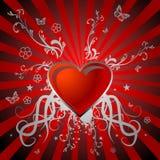 глянцеватое сердца красное Стоковое фото RF