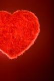 глянцеватое сердца пера красное Стоковые Изображения