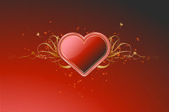 глянцеватое сердца красное Стоковое Изображение RF