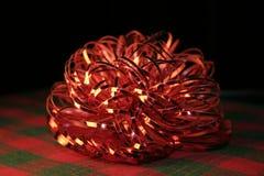 глянцеватое шотландки смычка красное Стоковое Изображение RF