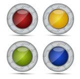 Глянцеватые круглые иконы Стоковая Фотография
