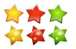 глянцеватые символы звезды Стоковое Изображение