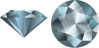 Глянцеватый вектор диаманта Стоковое Изображение RF